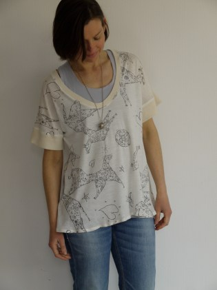 Dixie DIY Summer Concert Tee in Italian viscose jersey