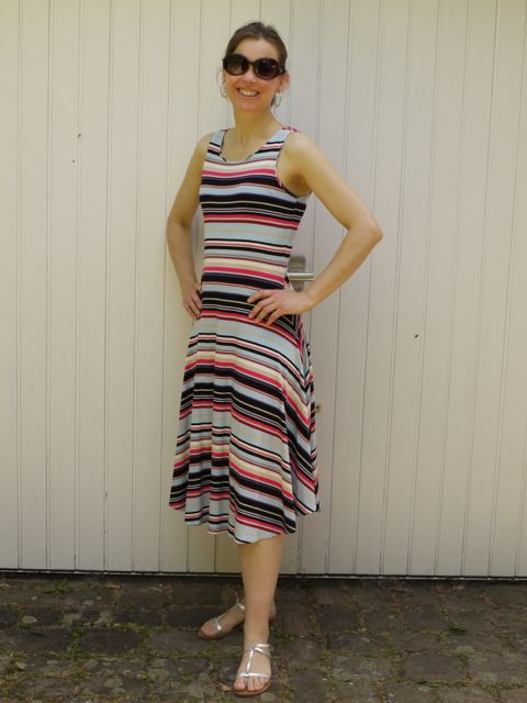 stripe jersey dress 3