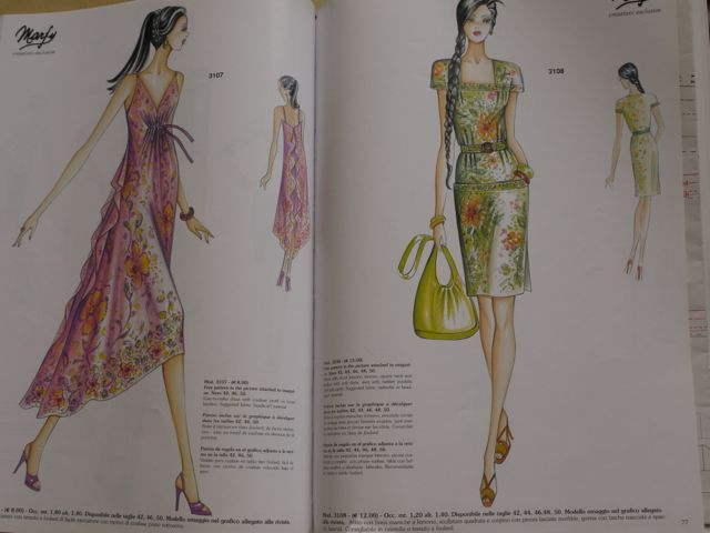 Marfy 3107 and 3108 free patterns in the 2013/14 catalogue.