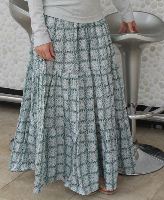 Tiered maxi skirt by Burdastyle