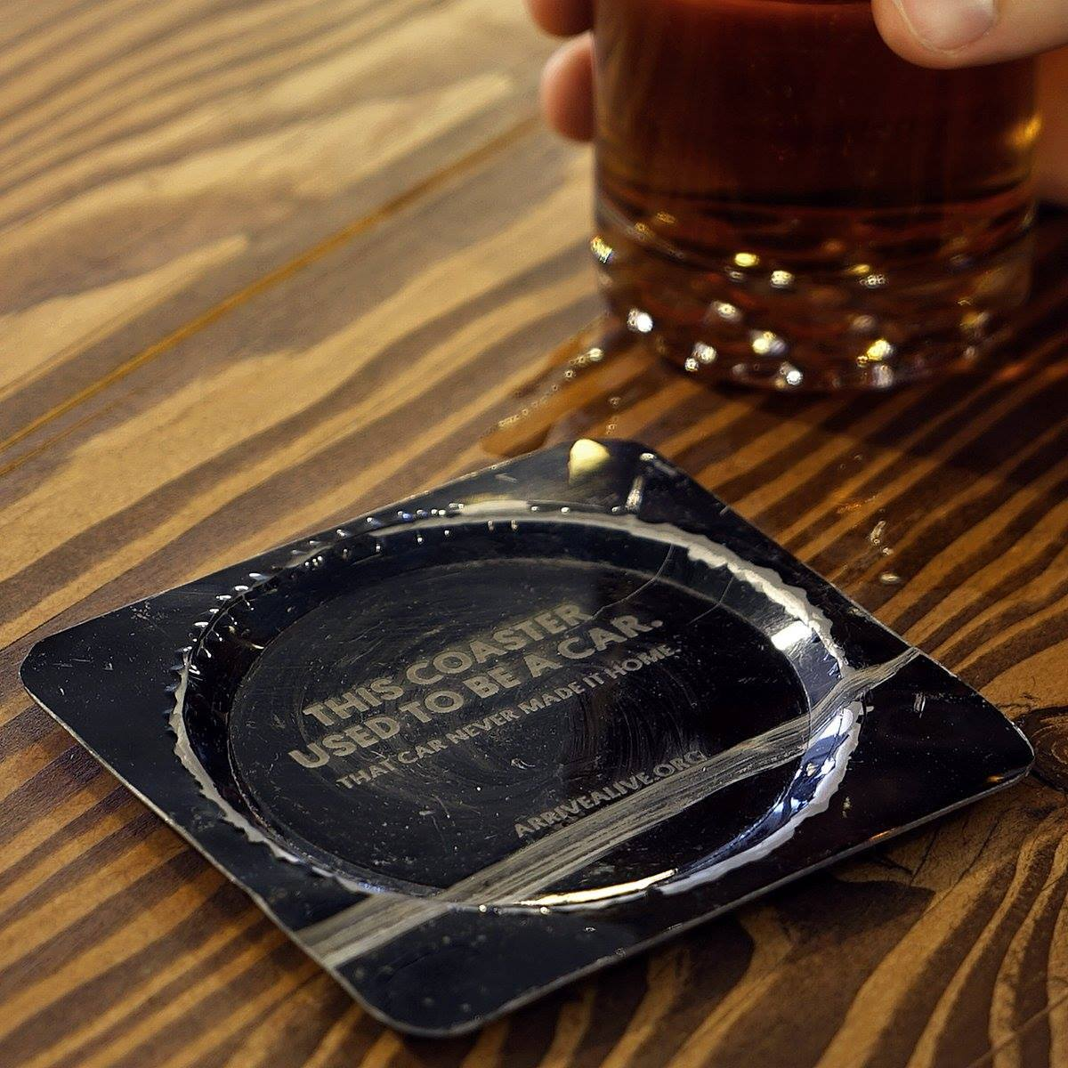 Image of a coaster made from a car