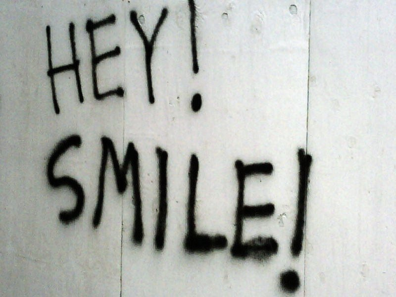 Image of positive message graffiti