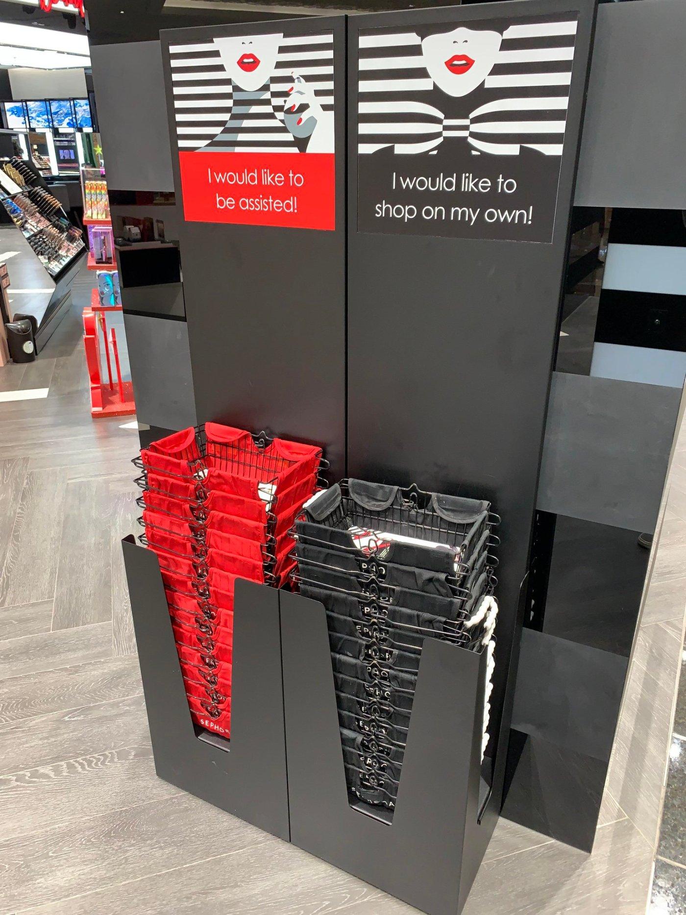 "Sephora ""Assist Me"" Baskets"