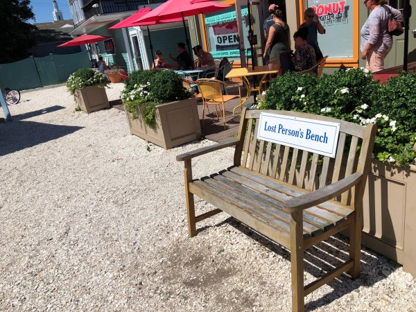Photo of a bench from a trip to Provincetown, MA