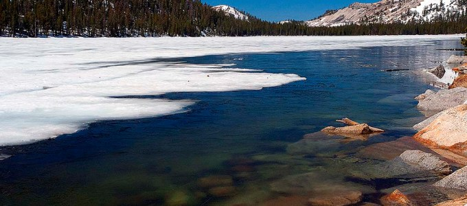 Tenaya Lake Frozen - Posts Coming Soon to Yosemite Tales