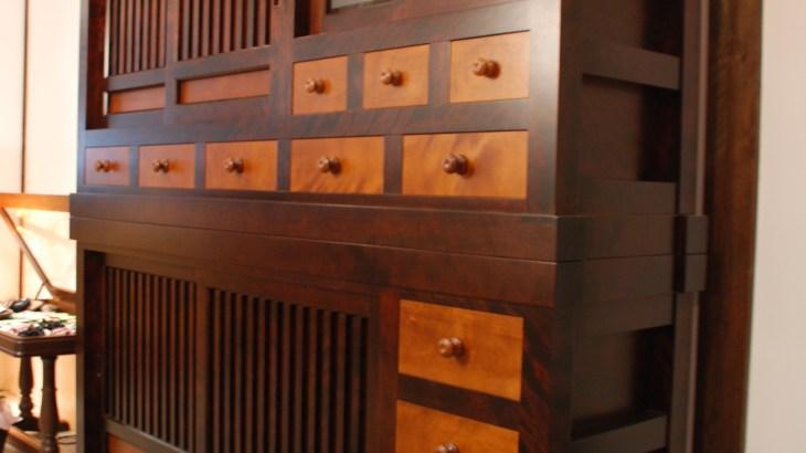 北海道民芸家具 食器棚