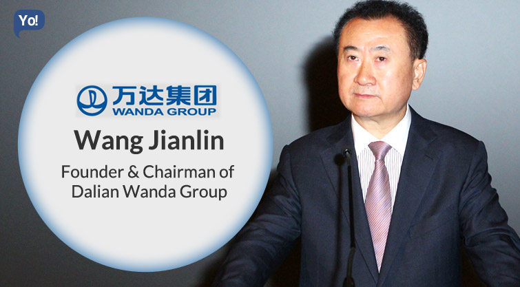 Image result for Property magnate Wang Jianlin of Dalian Wanda   images