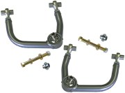 """Kit Includes: Upper Control Arms, Heim Joints & Spacers, Tapered Spindle Adapters, 1"""" I.D. Stainless Steel Uniballs, Upper & Lower Hi-Misalignment Spacers, Grade 8 Mounting Hardware"""