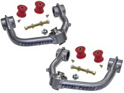 """Kit Includes: Upper Control Arms, Urethane Bushings, Inner Sleeves, Tapered Spindle Adapters, 1"""" I.D. Stainless Steel Uniballs, Upper & Lower Hi-Misalignment Spacers, Grade 8 Mounting Hardware"""