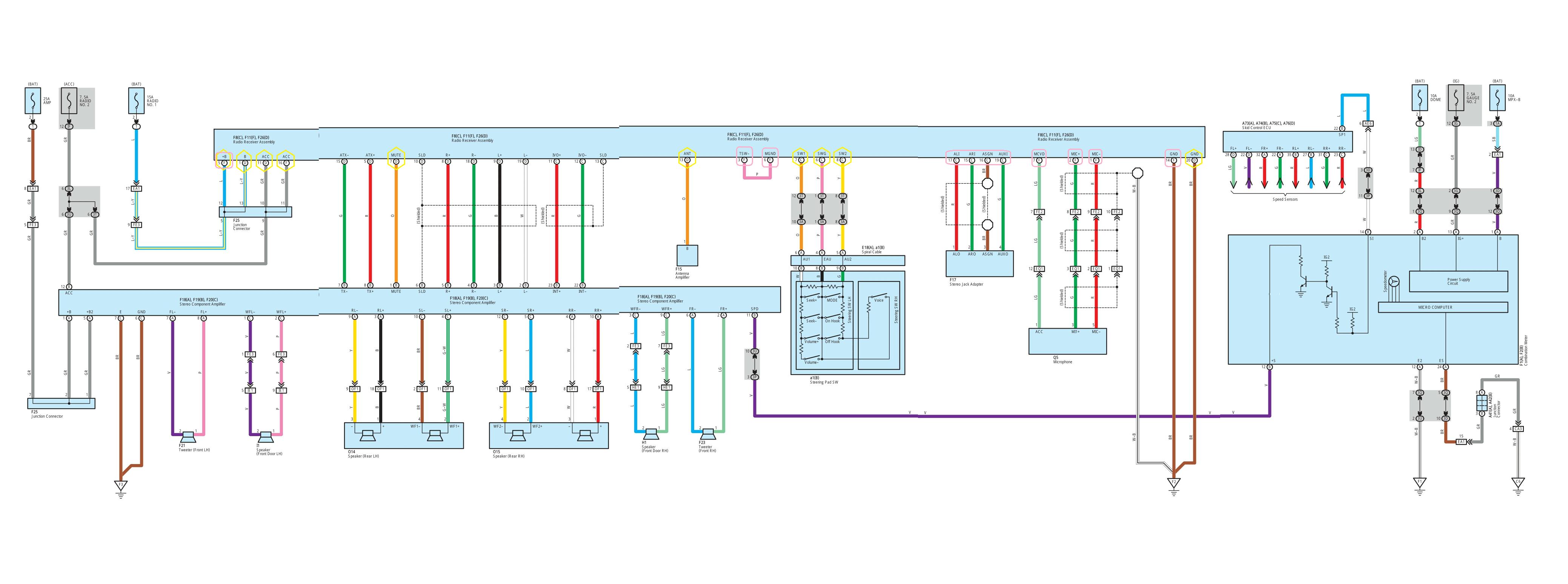 Toyota Avalon Amplifier Wiring Diagram Amp