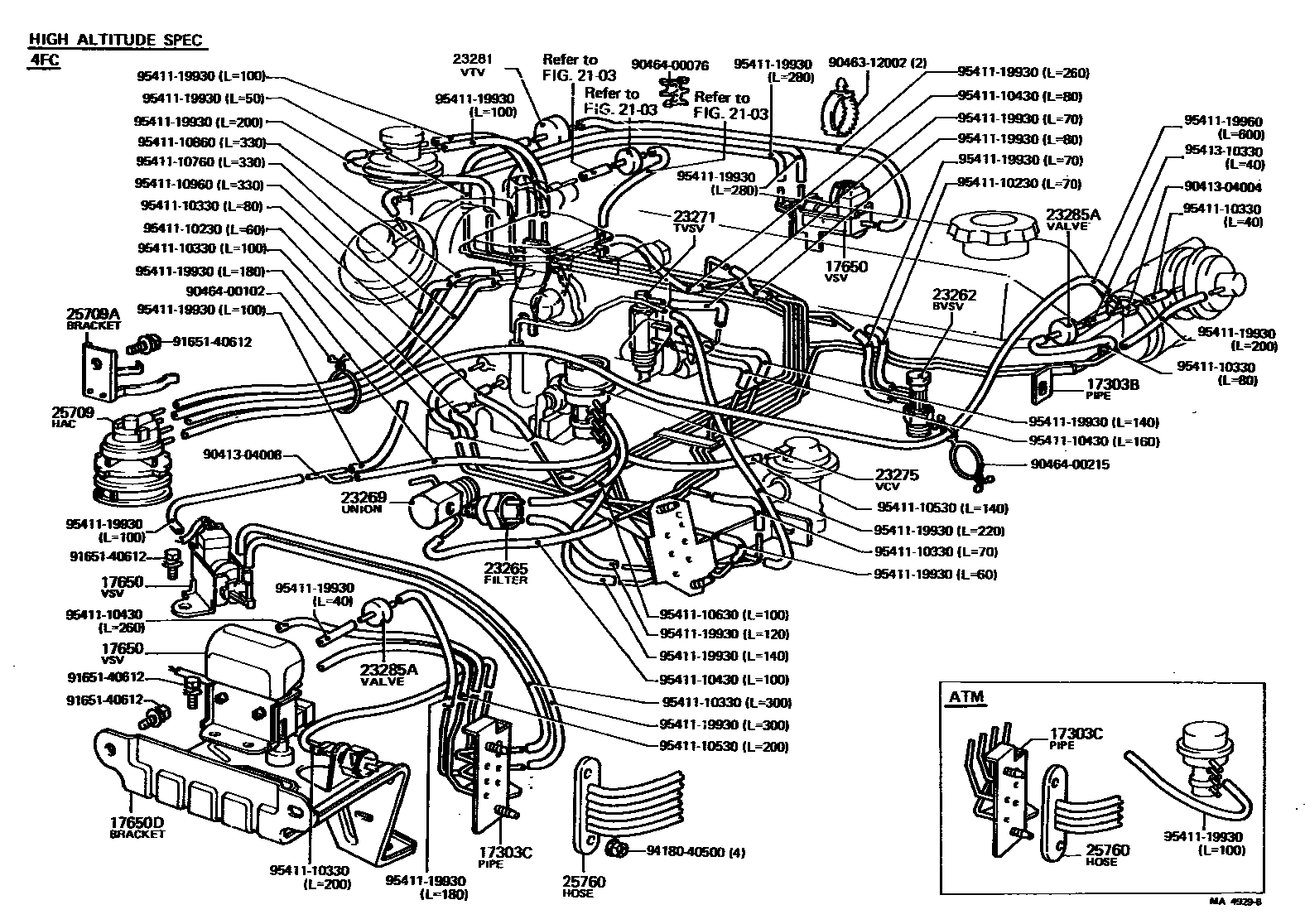 Diagram Toyota Tacoma Air