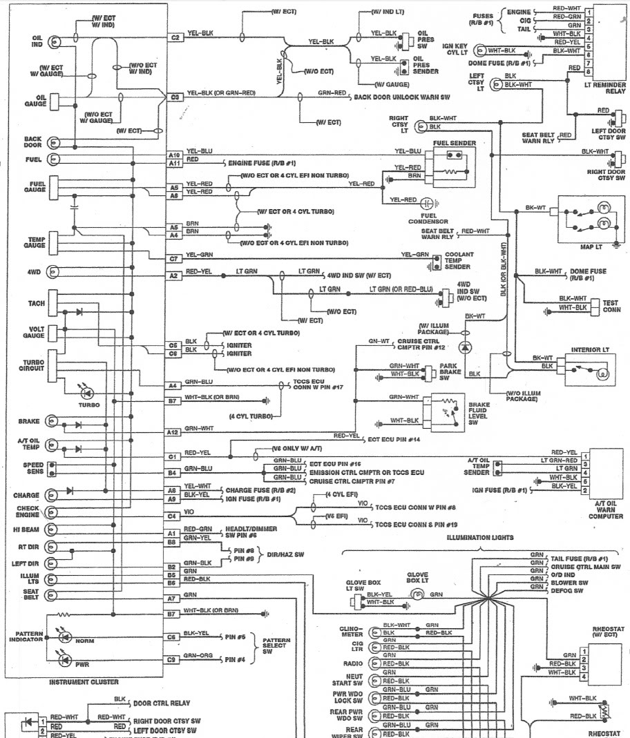 201249d1502131792 need clutster wiring diagrams 88instrumentclusterwiringdiagram1?resize=665%2C779&ssl=1 1984 toyota tail lights wiring diagram toyota fuse diagram, 2007 honeywell l6006c 1018 wiring diagram at fashall.co