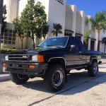 Toyota truck at McFly High School