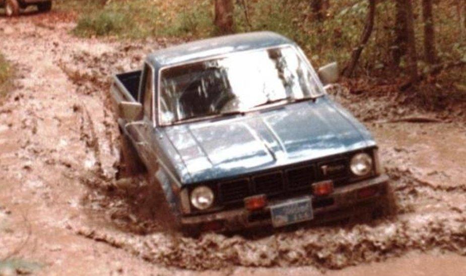 1981 Toyota in Mud