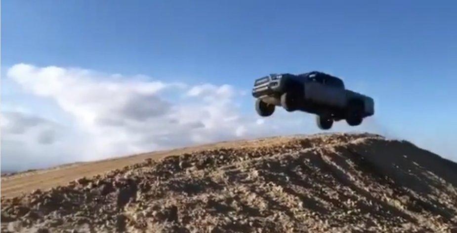 Deegan Tacoma in the Air