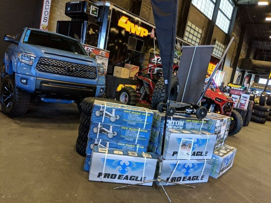 4WP Booth With Toyota Tundra And Toyota Tacoma Sandrail
