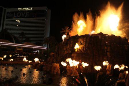 Vulkaanuitbarsting The Mirage
