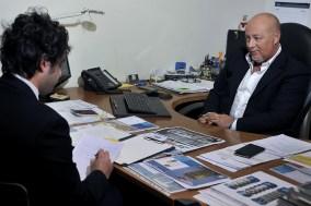 Walter Germini nel suo ufficio