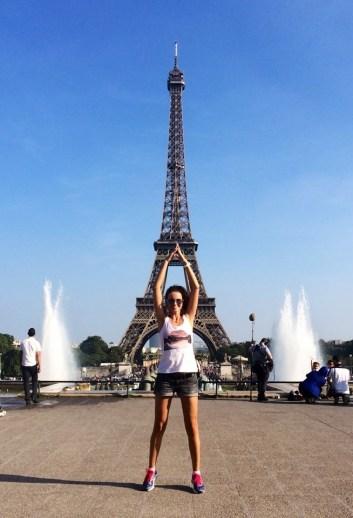 Paris Eifel Tower girl