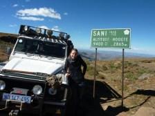 Lesotho Sani Pass jeep