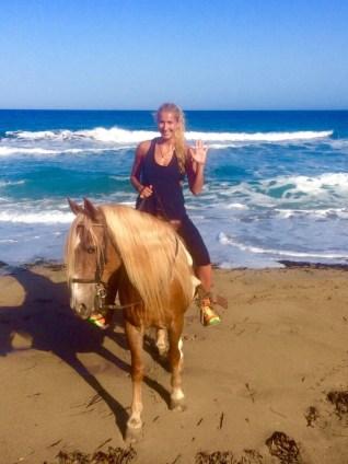 spain horse beach