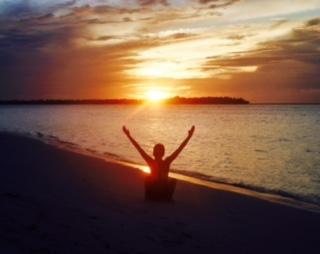Maldives sunrise Paradise island