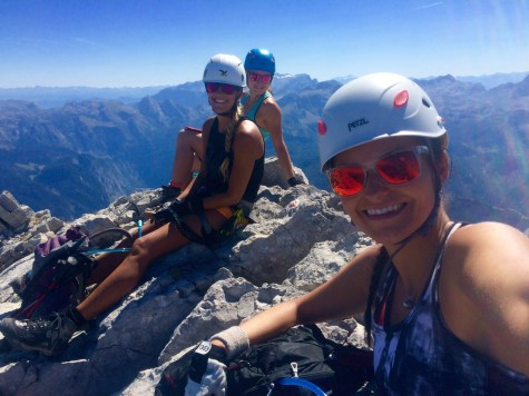 via ferrata climbing team