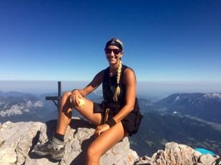 mountain woman smiling
