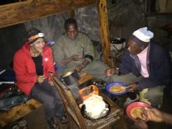 Dinner Kilimanjaro hut