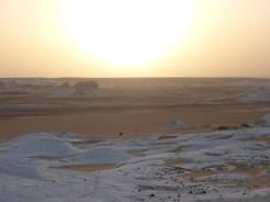 white desert view