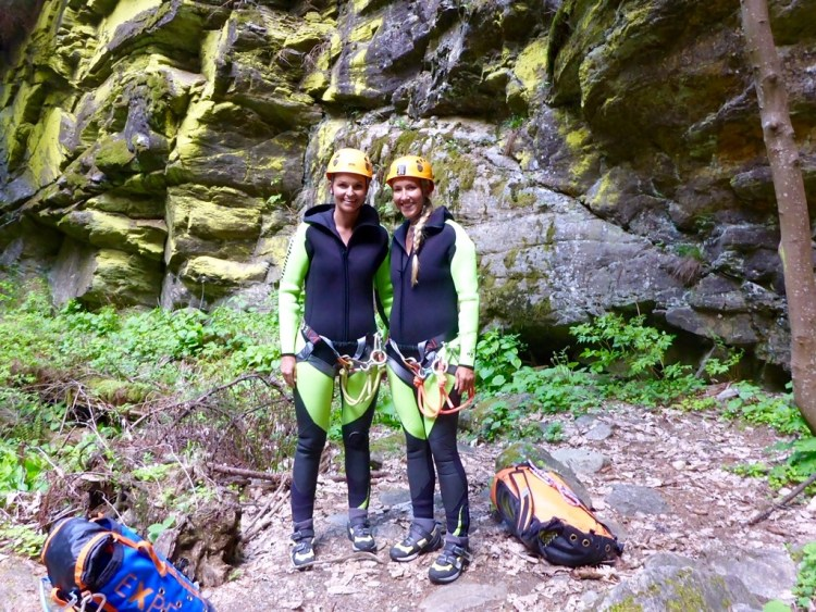 You are an adventure story Canyoning
