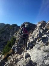 Mounatin climbing woman