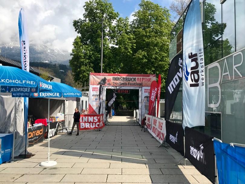 Finish line Innsbruck Alpine Trailrun