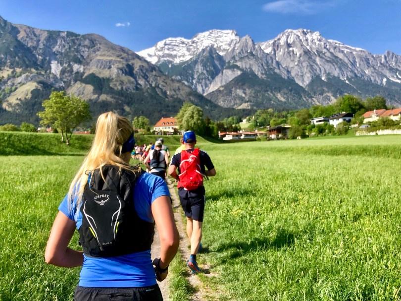 Alps mountains trailrunning girls
