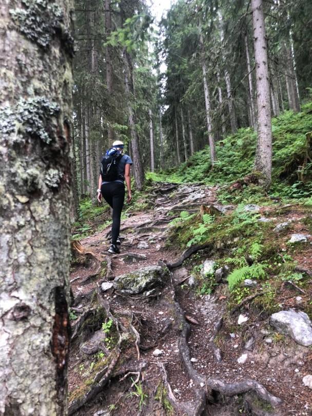 Heading back down from Faulkogel