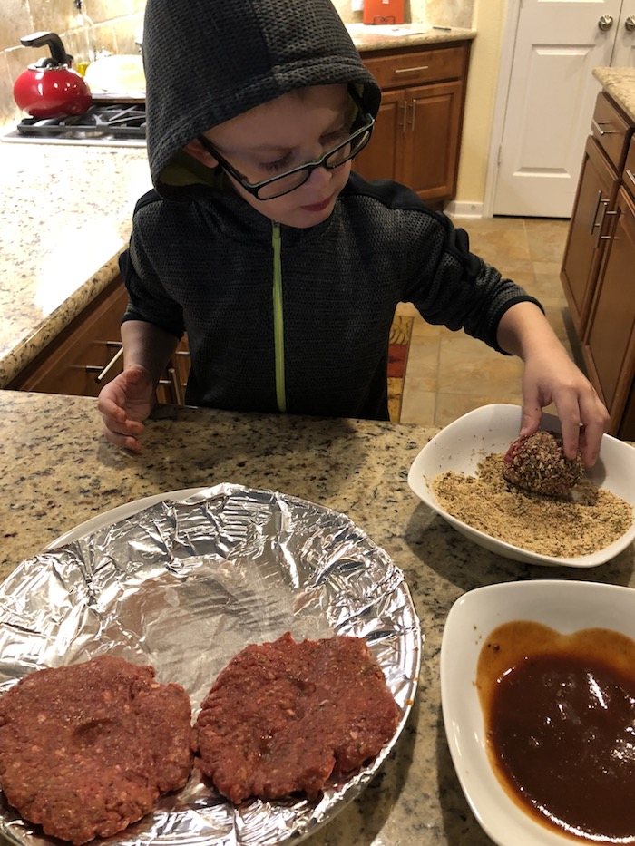 Justin's Famous BBQ Burgers