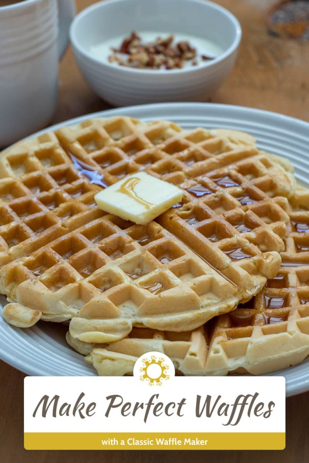 Make Perfect Waffles every time with a Classic Waffle Maker