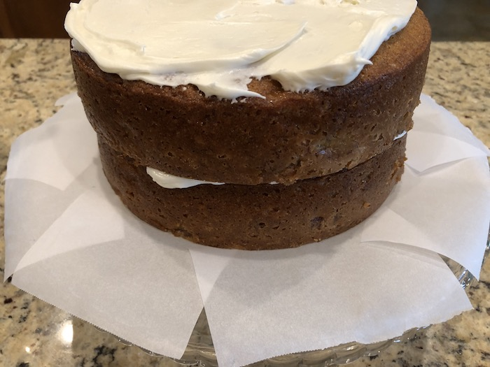 Elegant and Creamy Banana Cake with Cream Cheese Frosting