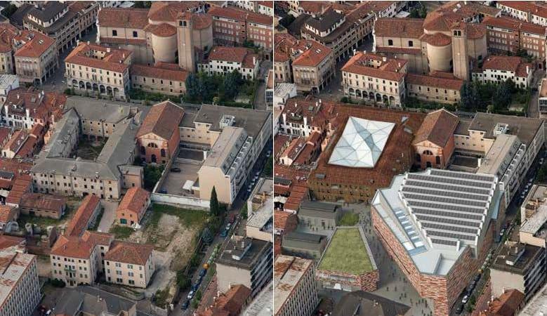 Vista dall'alto del museo M9 di Mestre