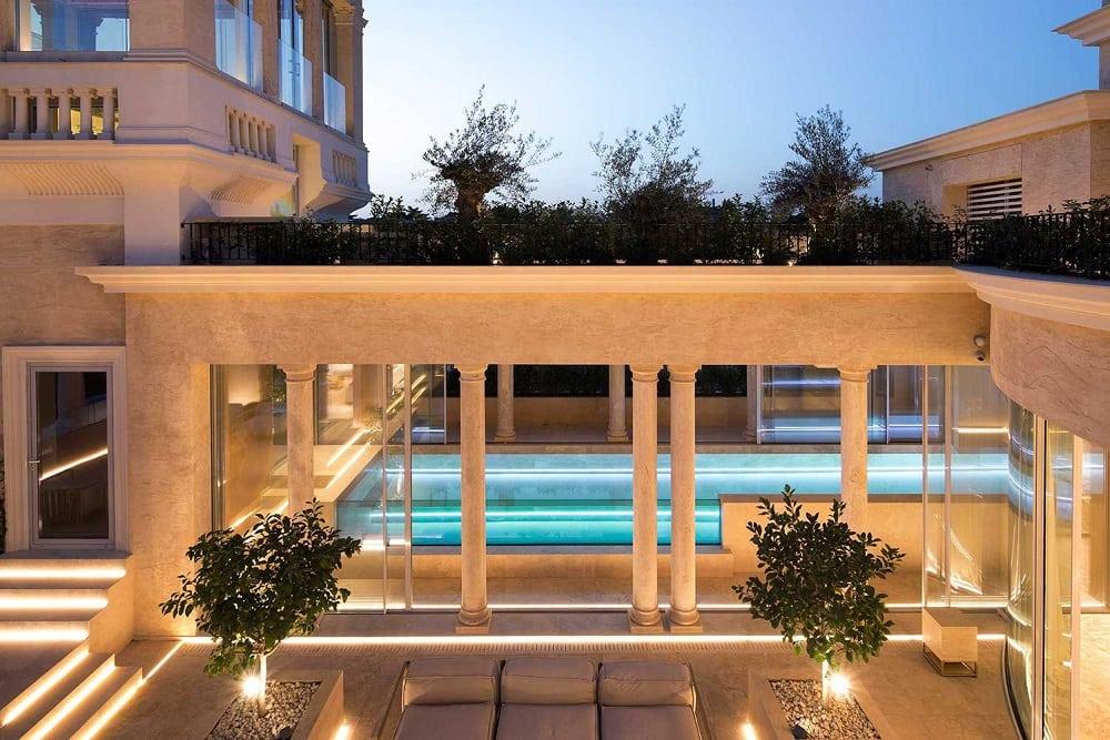 Architettura contemporanea la villa sul palazzo