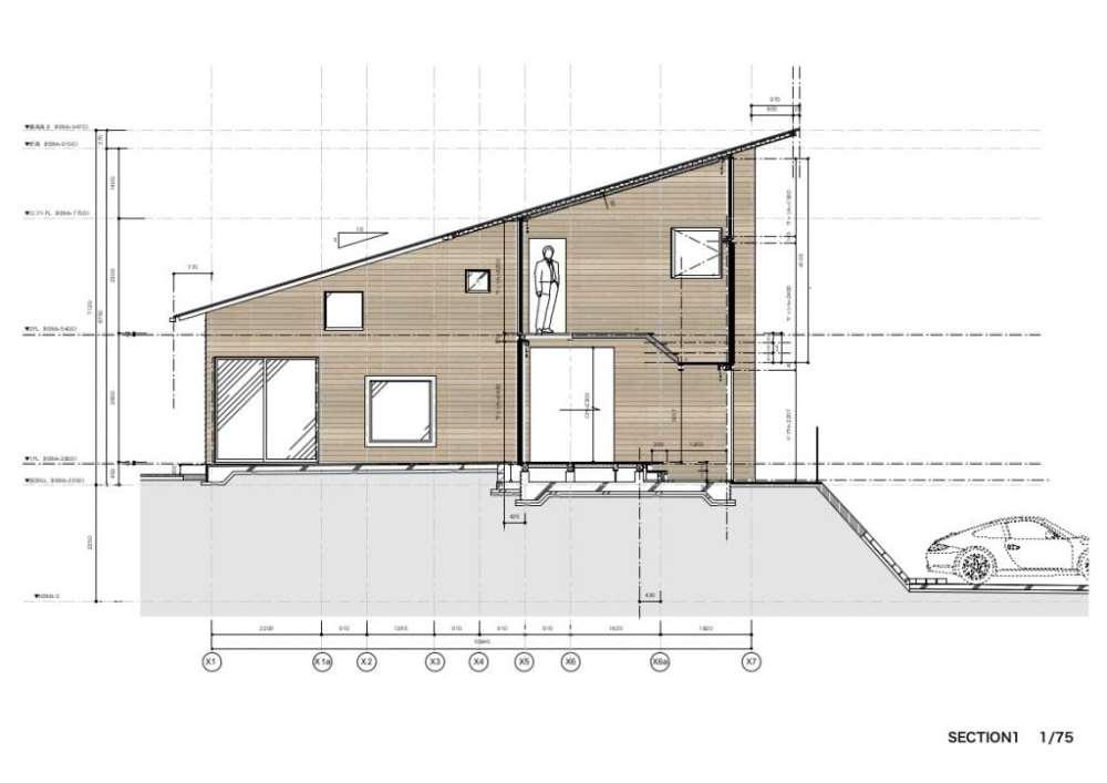 architettura giappone sezione