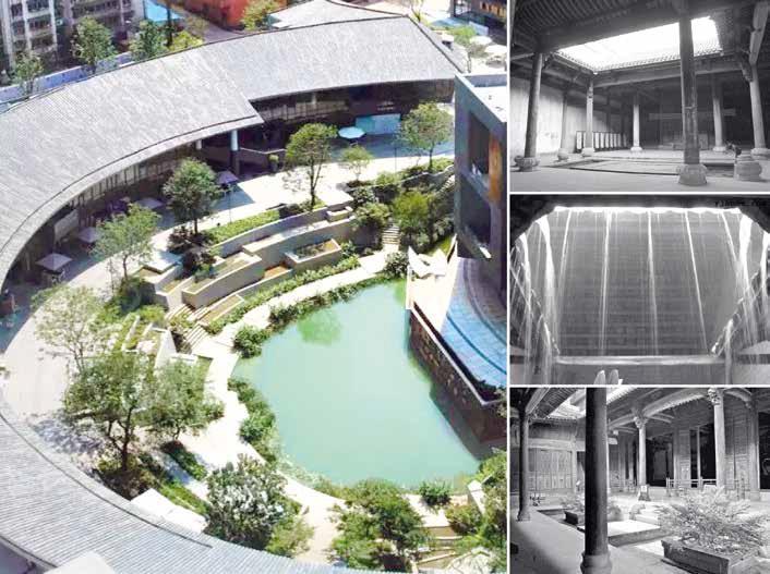 architettura cinese anfiteatro patio