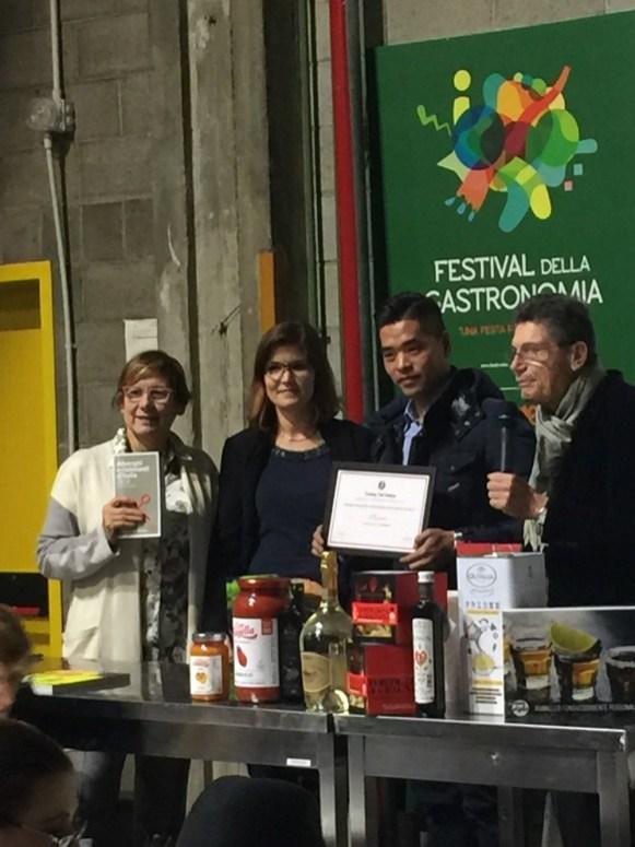 La premiazione al Festival della Gastronomia di Milano