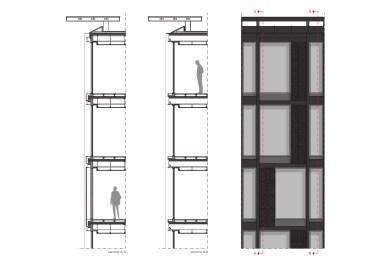 Dettaglio costruttivo di facciata ©Park Associati