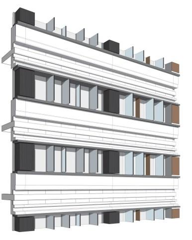 Sezione della facciata