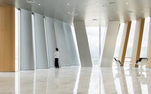Gli uffici della compagnia sono posizionati nei piani più alti, mentre quelli inferiori sono affittati a società esterne