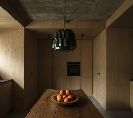 La cucina al piano terra...