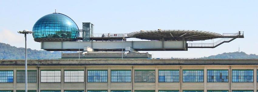 La piattaforma di atterraggio elicotteri al Lingotto