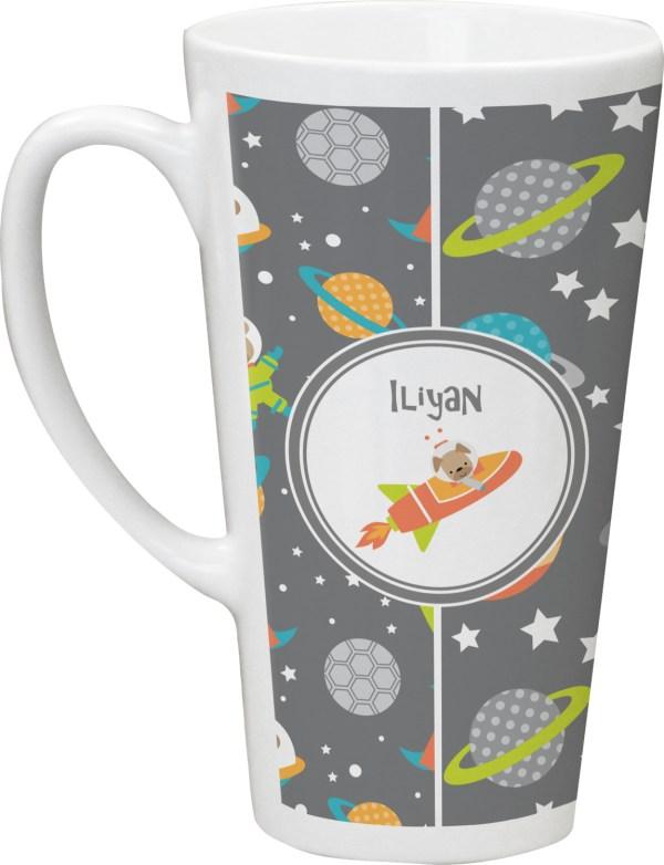 Space Explorer Latte Mug (Personalized) - YouCustomizeIt