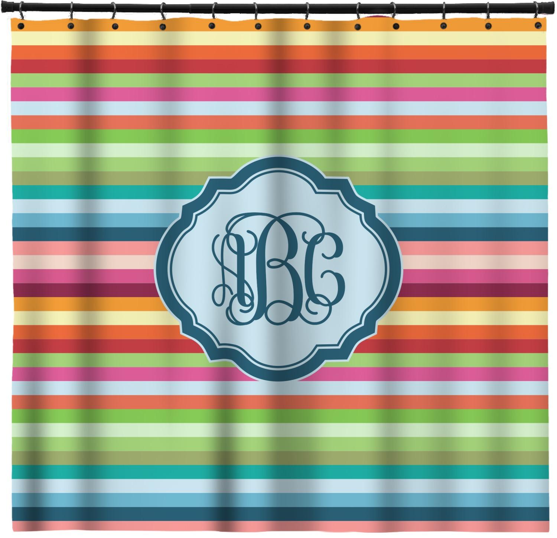 Retro Horizontal Stripes Shower Curtain Custom Size Personalized